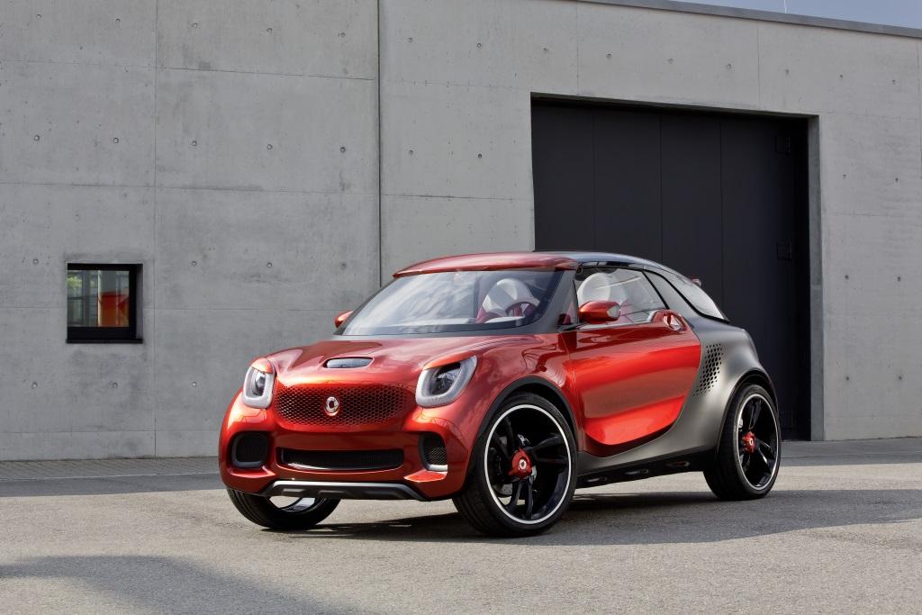 Konzeptfahrzeug smart forstars Exterieur: Lackierung Alubeam rouge, tridion Sicherheitszelle in einem mattem Titanfarbton