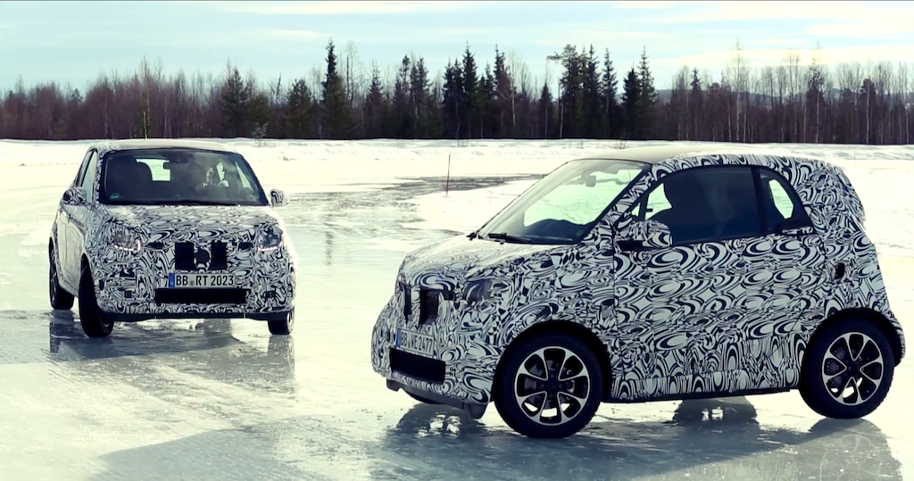fortwo forfour winter test