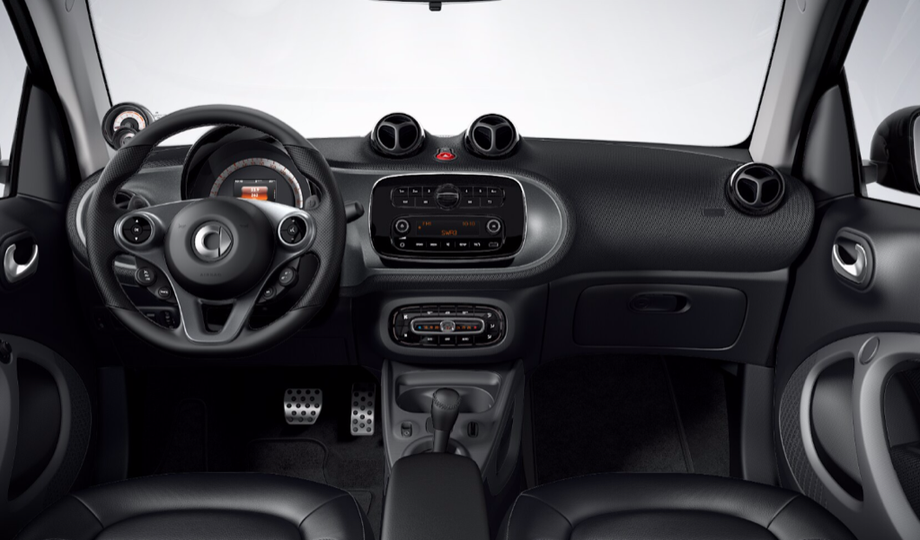 smart 453 Interieur neutral schwarz 2